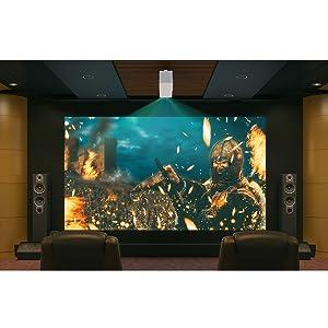 Lg Beamer Hu80ksw Presto Bis 381 Cm 150 Zoll Cinebeam Laser 4k Uhd Projektor 2500 Lumen Laser 20000 Hdr10 Smarte Funktionen Weiß Heimkino Tv Video