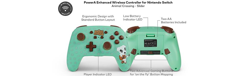 Mando inalámbrico PowerA mejorado para Nintendo Switch: K.K. ...
