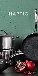 stratanium plus, fry pan, nonstick, non-toxic, HAPTIQ, SCANPAN