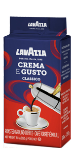 lavazza, crema, gusto, brick, ground, espresso, coffee