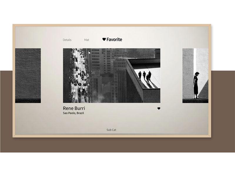 The Frame displaying favorites