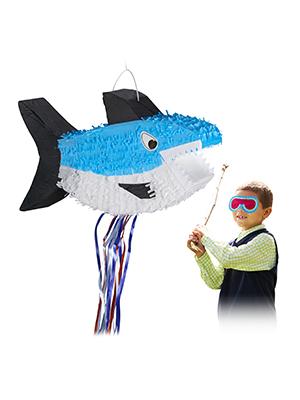 Relaxdays Piñata Tiburón sin Relleno, Decoración Cumpleaños ...