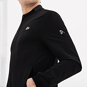 Lacoste Mens Sport DJOVOKIC Long Sleeve Solid Zip UP Jacket ...