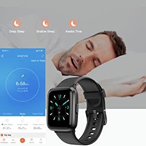 3  YAMAY Smart Watch 2020 Ver. Watches for Men Women Fitness Tracker Blood Pressure Monitor Blood Oxygen Meter Heart Rate Monitor IP68 Waterproof, Smartwatch Compatible with iPhone Samsung Android Phones cdf85fd1 df17 4095 9b6c e1247e55bab6