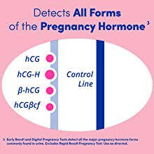 Detects 4 Major Forms hCG all major pregnancy hormones commonly found urine. Use as directed. [3]