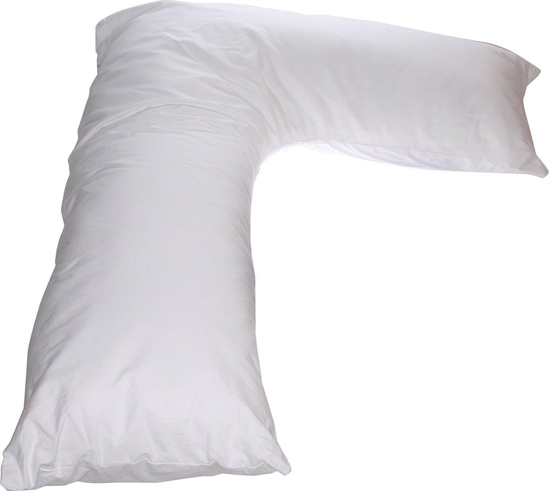 Amazon Com L Side Sleeper Pillow White Long L Body