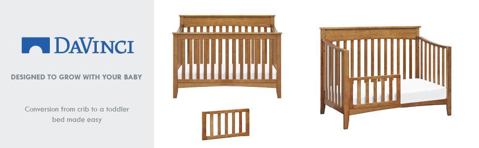 DaVinci M12599 Toddler Bed Conversion Kit in Espresso