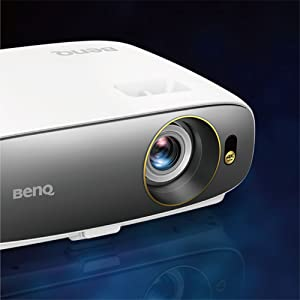 BenQ CineHome home theater projector W1720's lightweight design and sleek, compact profile