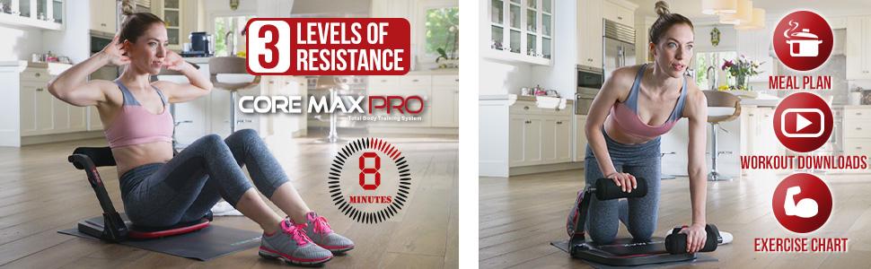 core max pro, 8 minute workout