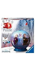 puzzle ravensburger 3d reine des neiges