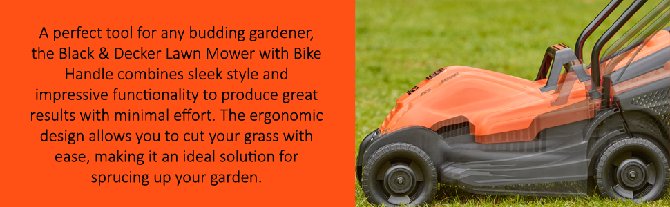 The Black & Decker Lawn Mower is a must-have for any budding gardener