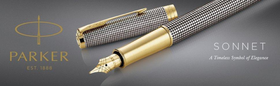Matte Black//Silver Roller Ball Pen 1931523 2016 Edition Parker Sonnet