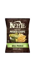 pickle chips, kettle brand, kettle chips, chips, salty, salt chips