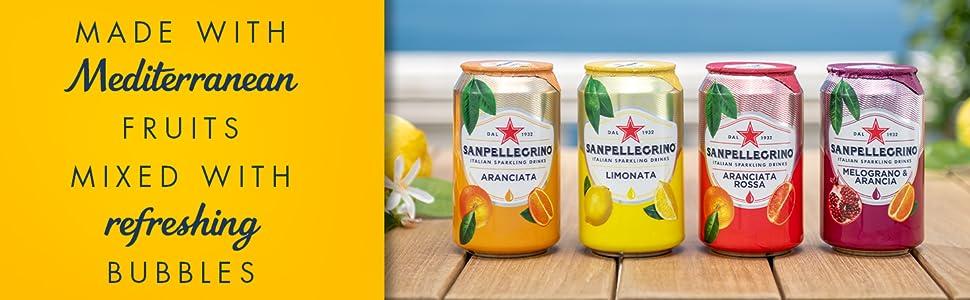 Mediterranean Flavours Sparkling Fruit Beverages