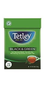black and green hot tea