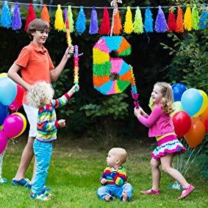 Relaxdays- Piñata Cumpleaños Número 9 sin Relleno, Papel,, 50,5 x 35,5 x 7,5 cm (10025189_911)