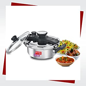 3L CLIP-ON STAINLESS STEEL PRESSURE COOKER