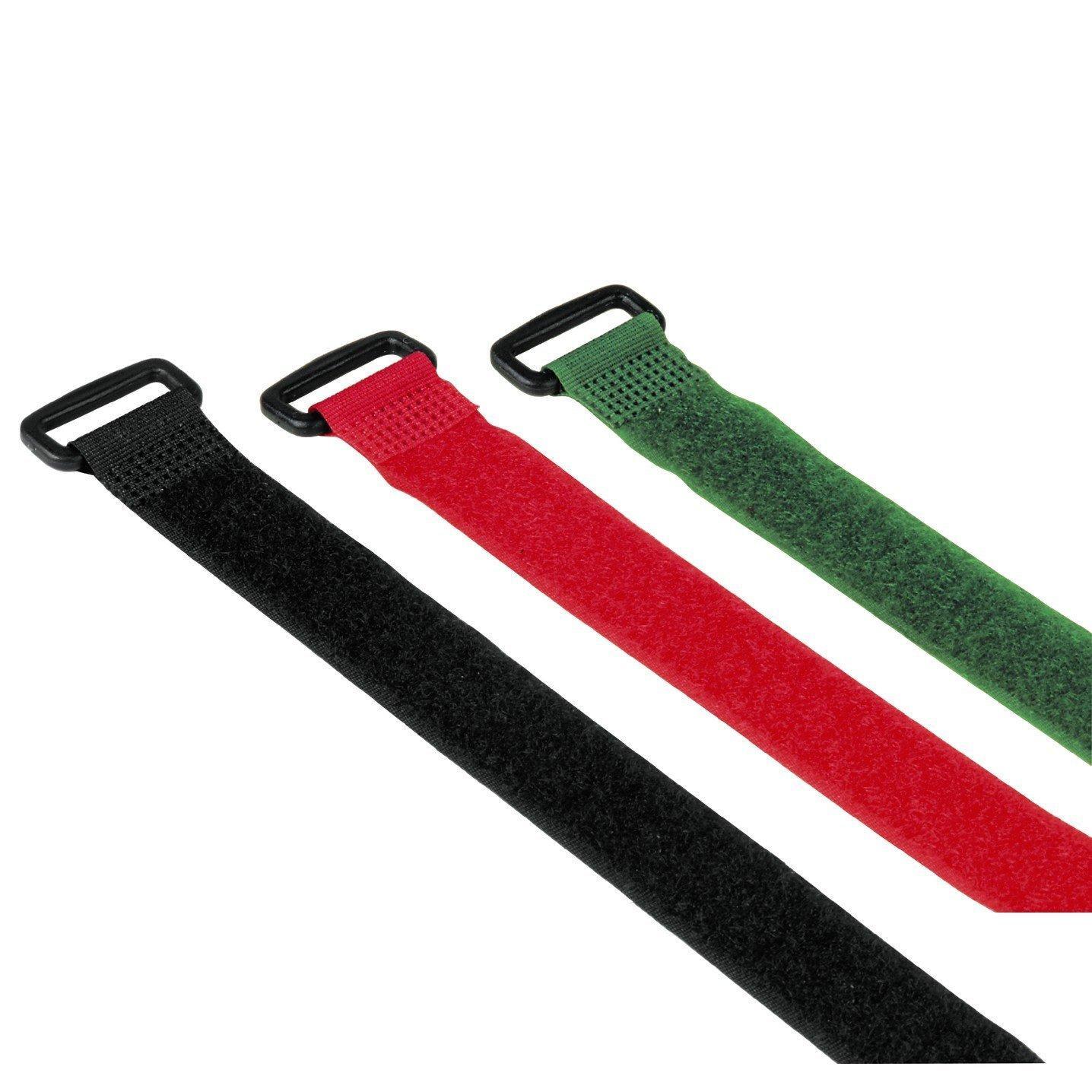 Hama Klett-Kabelbinder mit Schnalle, 250 mm, 9 Stück, farbig ...