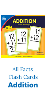 addition all facts flash cards