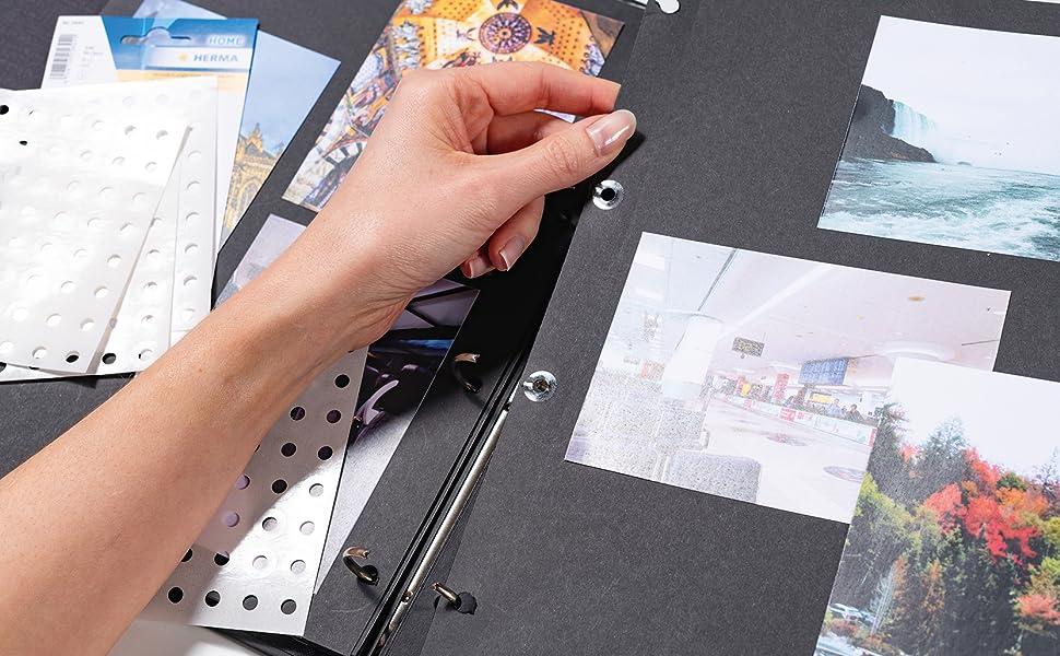 Libro de fotos con cartón fotográfico.