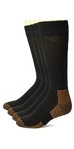 Carolina Ultimate Men's Copper Non-Binding Seamless Crew Socks 4 Pair Pack
