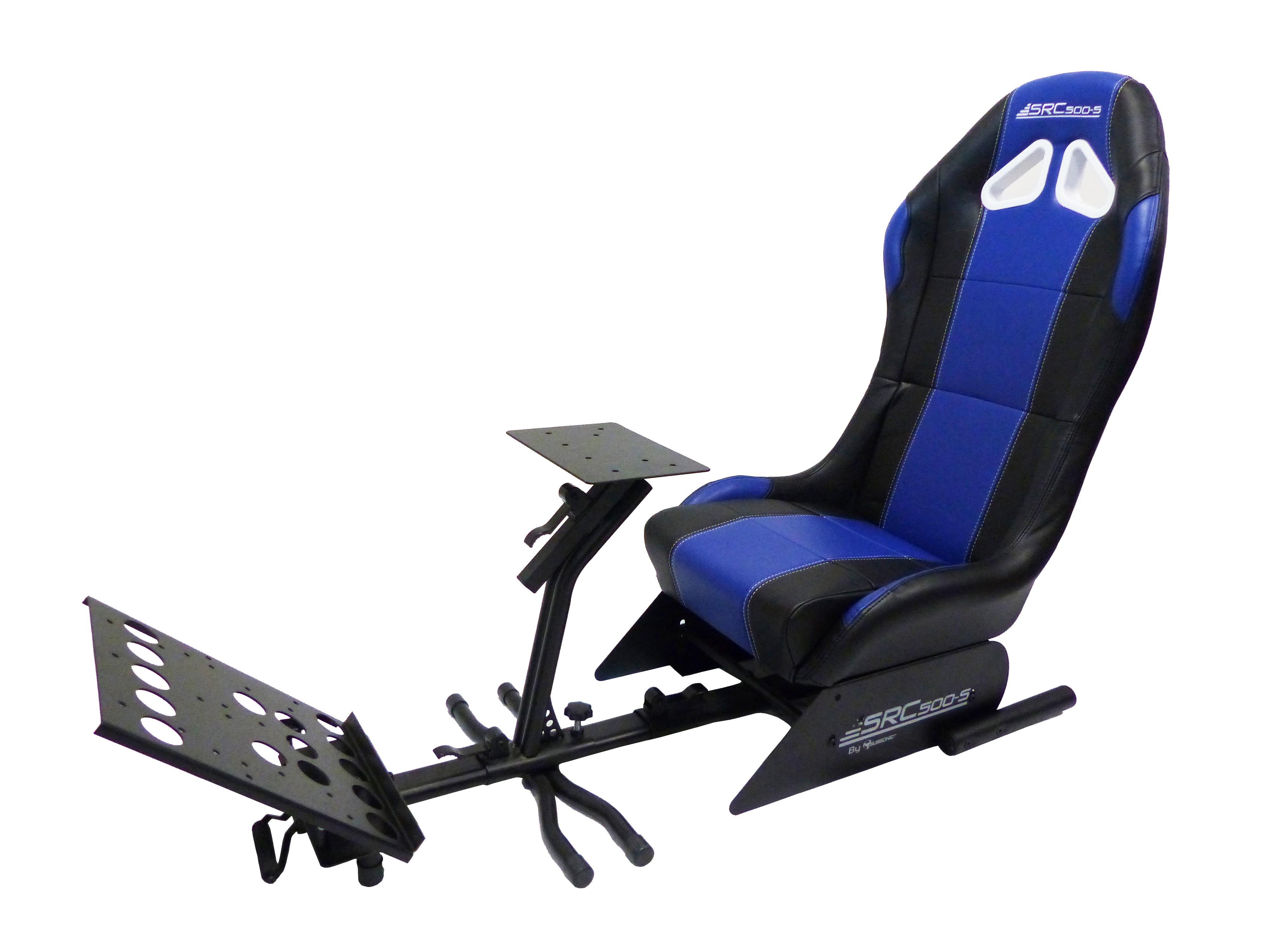 subsonic si ge baquet avec support pour volant et p dalier cockpit de simulation src 500 s. Black Bedroom Furniture Sets. Home Design Ideas