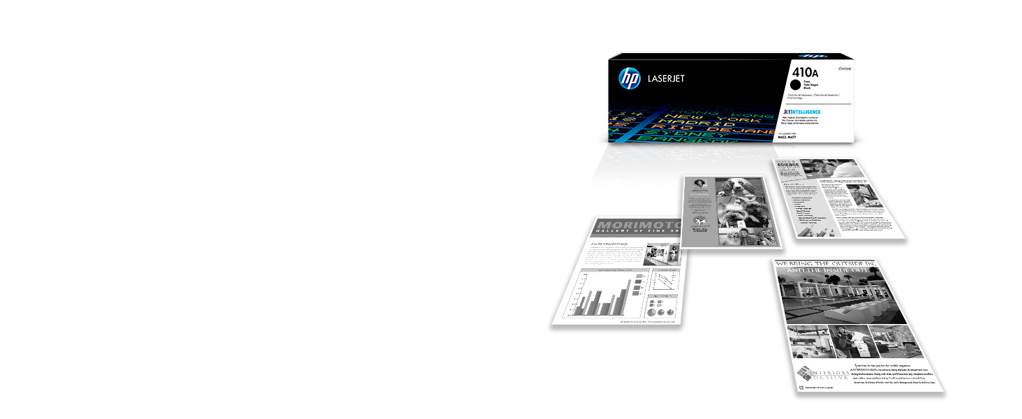 Dependable performance, consistent page yields, and standout results with Original HP cartridges