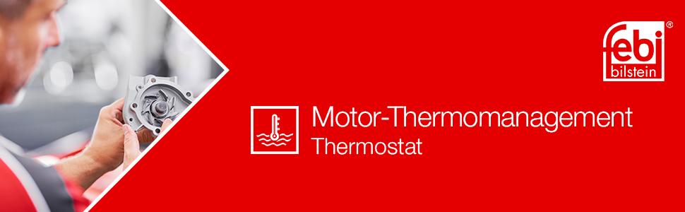 Febi Bilstein 36173 Thermostat Mit Gehäuse Dichtung Und Temperaturschalter 1 Stück Auto