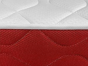 Duérmete Online Duérmete viscoelástico Lite Reversible (colchón a 2 Caras), Muy Transpirable, Blanco, 140x200