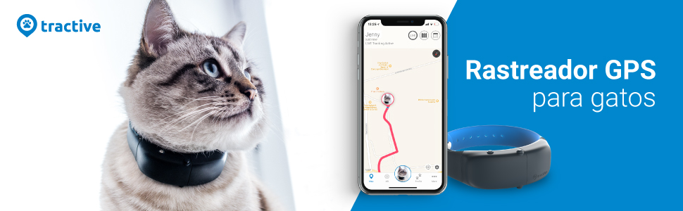 Tractive GPS Tracker Cat - Rastreador GPS para gatos