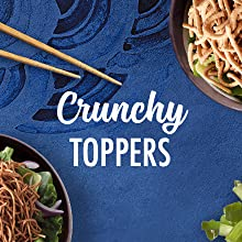 Crunchy toppers with easy asian noodles from La Choy