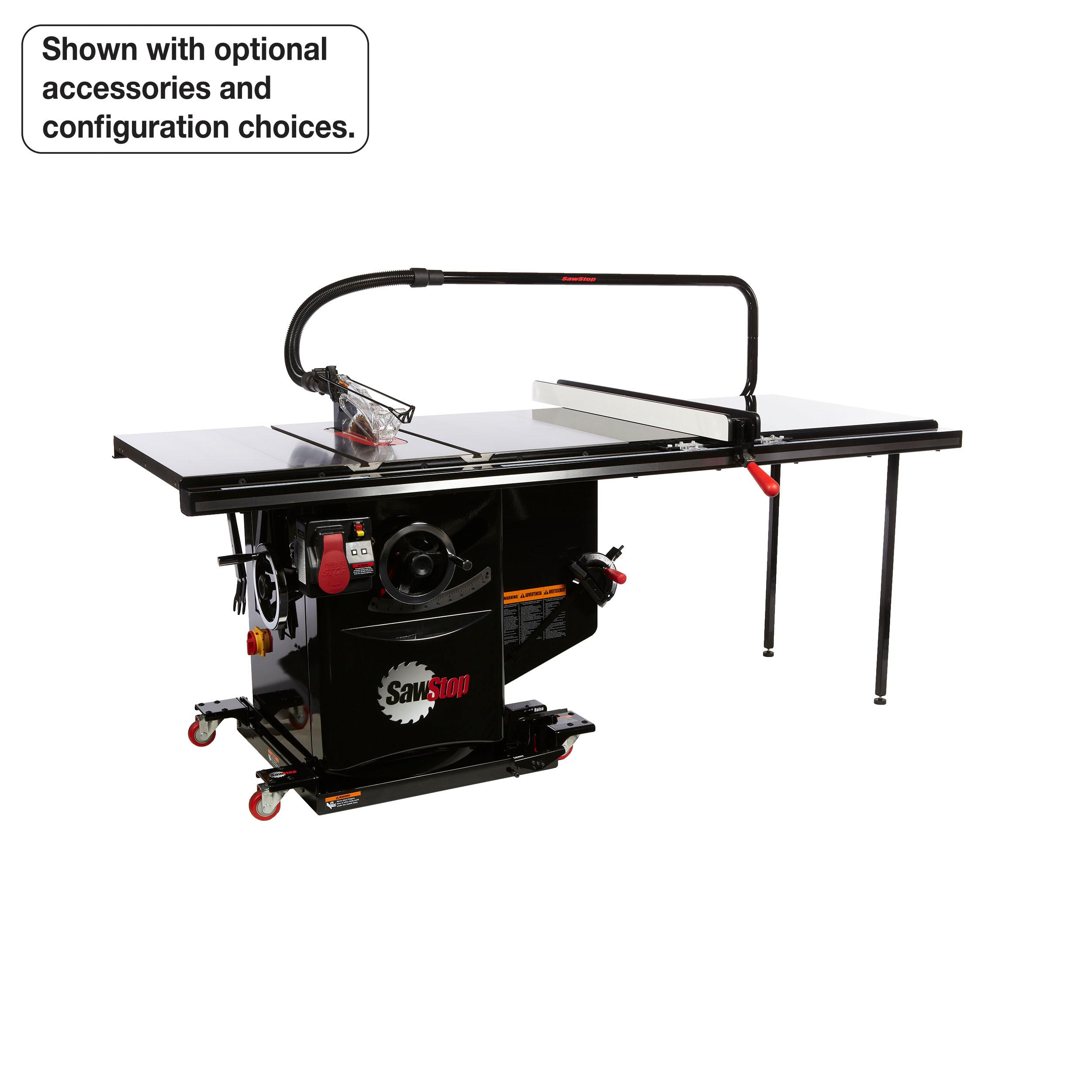 SawStop ICS51230-52 5 HP 230V 60 Hz Cabinet Saw with 52-Inch ...