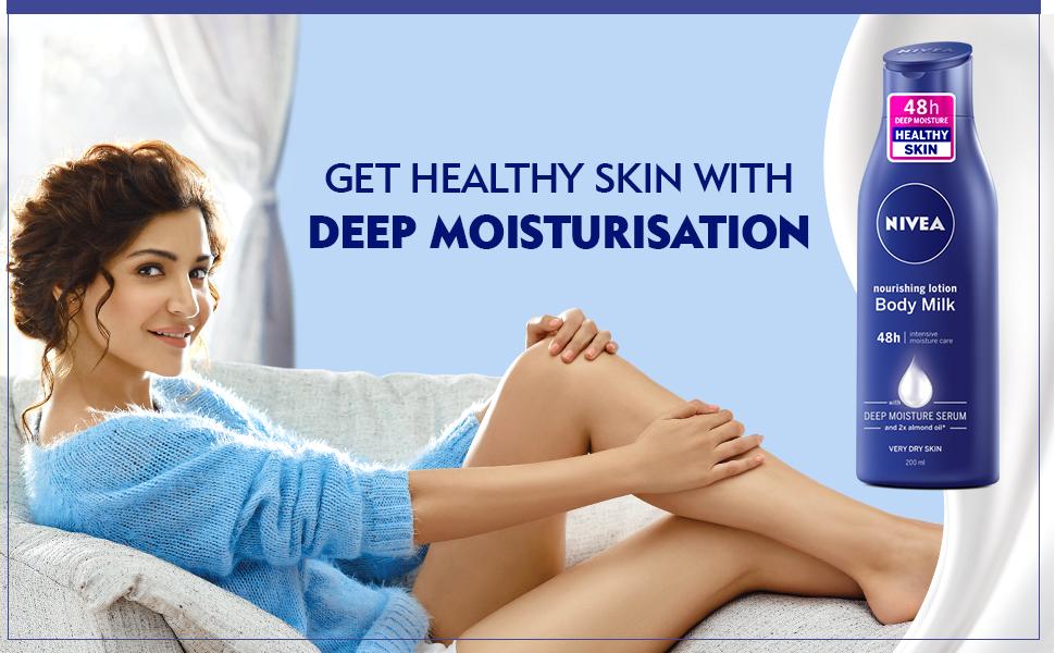 body milk, body lotion, nivea, nivea lotion, dry skin, anushka sharma