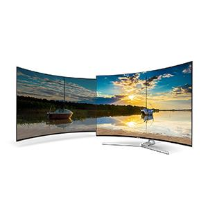 samsung mu9009 163 cm 65 zoll curved fernseher ultra hd twin tuner hdr 1000 smart tv. Black Bedroom Furniture Sets. Home Design Ideas