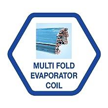 Multi Fold Evaporator Coil