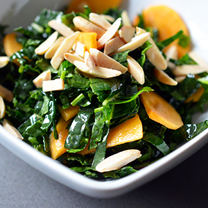 Winter Kale and Persimmon Salad