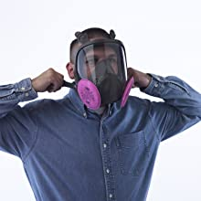 respirator mask, dust, lead, mold, asbestos, tear gas