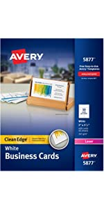 Avery Clean Edge Business Cards