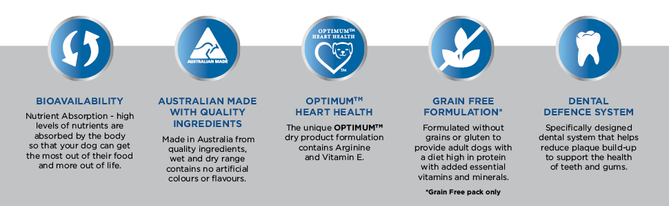 Optimum, Optimum dog food, dog food, dry dog food, wet dog food, grain free dog food