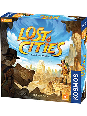 lost cities, reiner knizia, board game, card game, strategy, couples, two-player