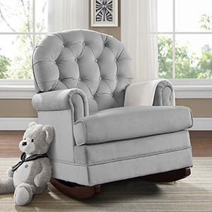 Delicieux Baby Relax Brielle Button Tufted Rocker Gray Upholstery