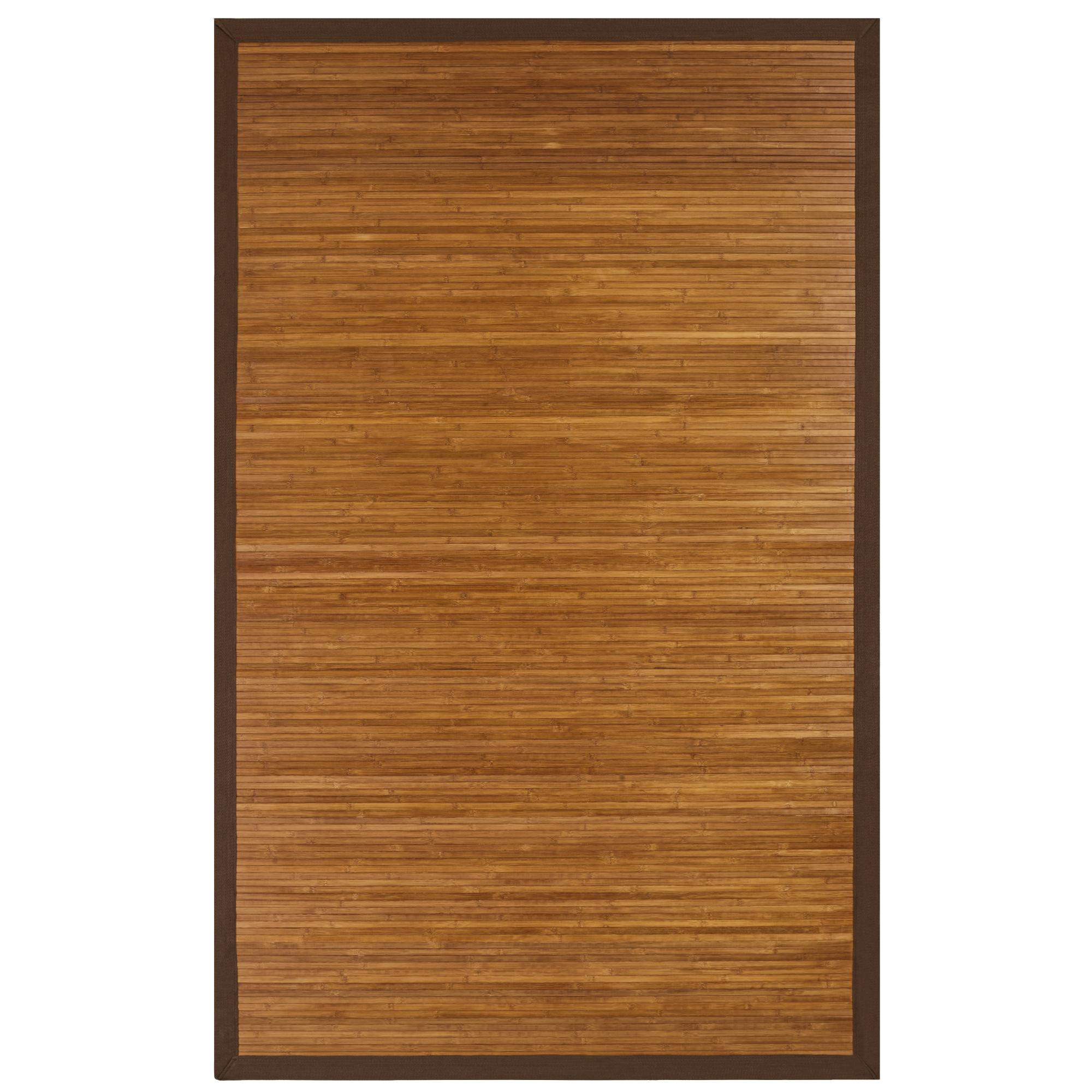 Amazon Contemporary Bamboo Rug Natural 5 W x 8 L Kitchen