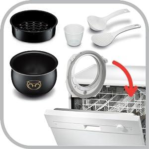 Dishwasher Safe, Tefal Rice Cooker & Multicooker