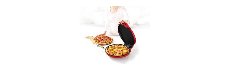 Princess 115001 – Pizzera 30 cm de diámetro, para Pizza Fresca y Congelada