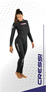 cressi, wetsuit, pentagon lady, underwater, scuba, diving, dive