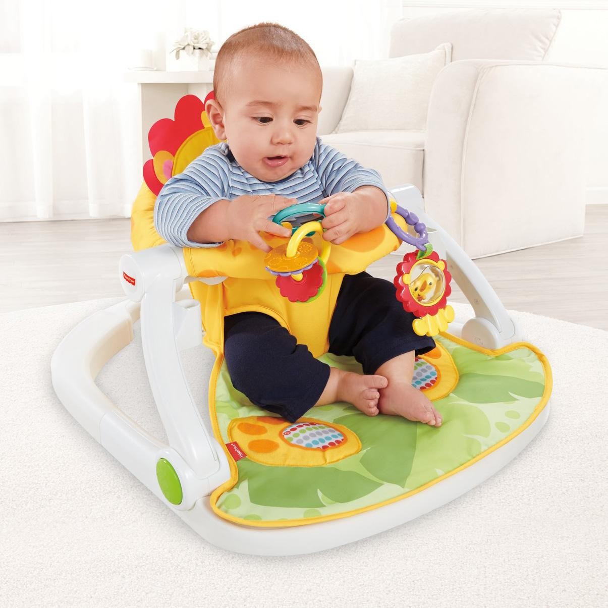 Amazon Com Fisher Price Sit Me Up Floor Seat With Tray