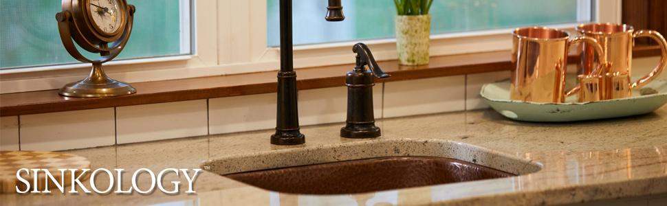 bar and prep sink, copper sink