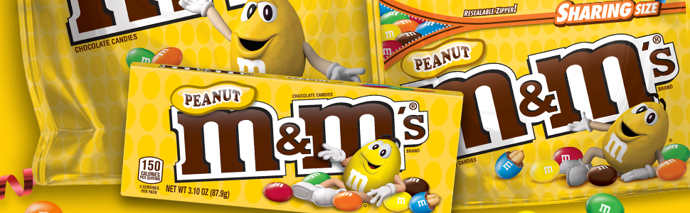 M&M's peanut milk chocolate candy