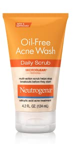 Neutrogena Oil-Free Acne Wash Daily Scrub, 4.2 Fl. Oz