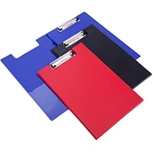 Kunststoff mit Metallklemme 6 St/ück Basics Klemmbretter verschiedene Farben